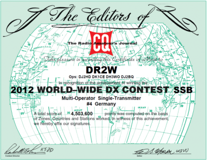WW DX 2012 4th place