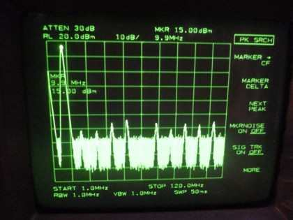"Picture 1: 10 MHz @+25 dBm (""over"")"
