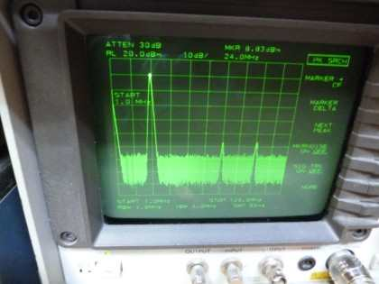 Picture 14: 24 MHz @+13 dBm single filter (on main board)