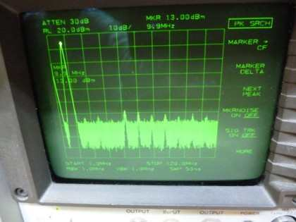 Picture 2: 10 MHz @+13 dBm single filter (on main board)