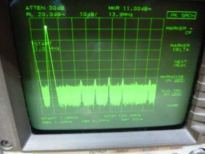 Picture 5: 14 MHz @+13 dBm single filter (on main board)