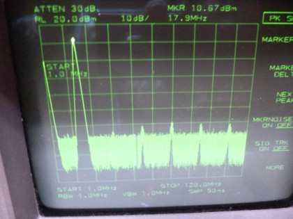 Picture 8: 18 MHz @+13 dBm single filter (on main board)