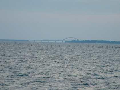 the Fehmarnsund bridge...