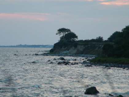 rocky coast line..