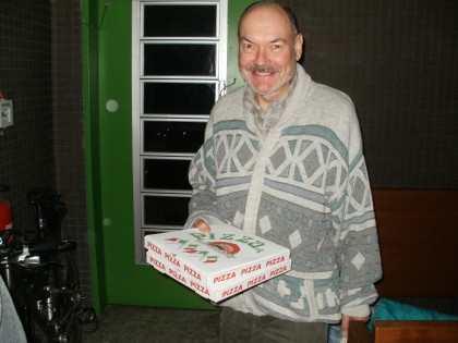 Ulmar our PIZZA man...