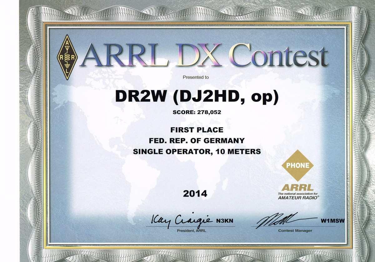 ARRL 10m 2014 1st