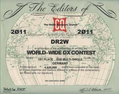 WW DX 2011 1st place